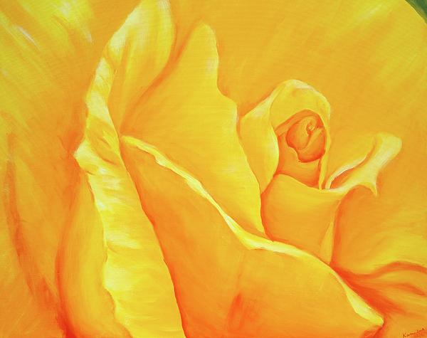 Karen Kaspar - Yellow rose detail