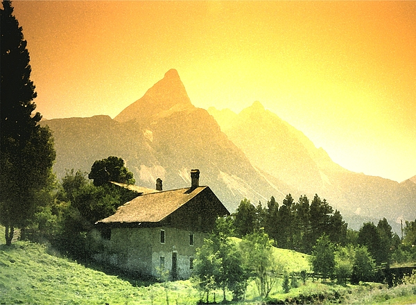 William Kaluta  - Zermatt Sunset   William Kaluta Artist