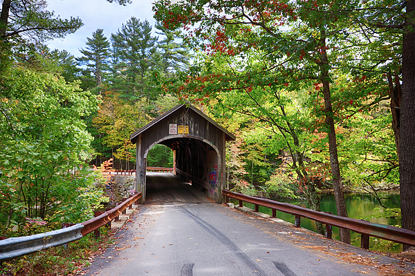 Jeff Folger - Fall colors over the Babs covered bridge