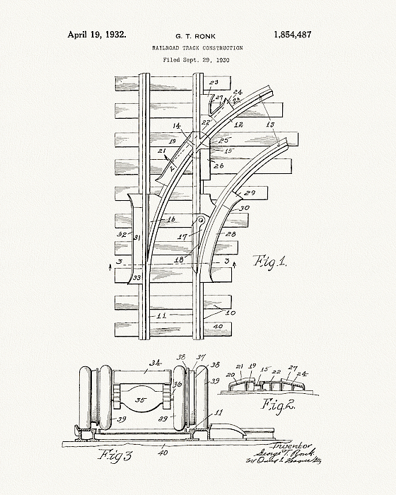 1932 Train Tracks Patent Drawing Iphone X Case
