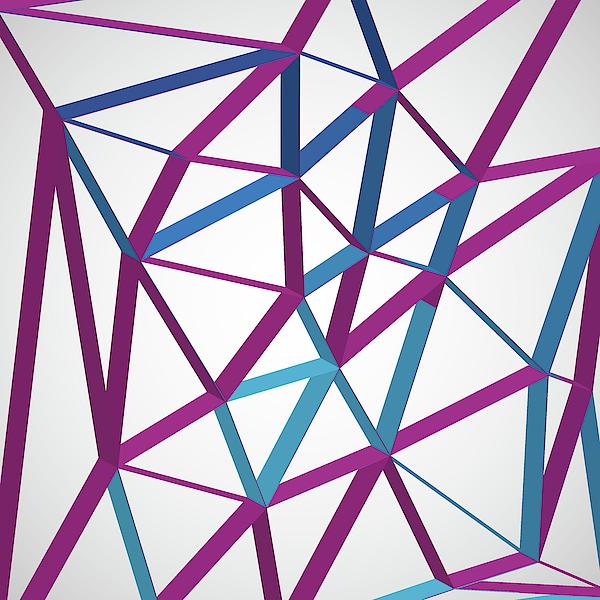 3d Futuristic Geo Lines Digital Art