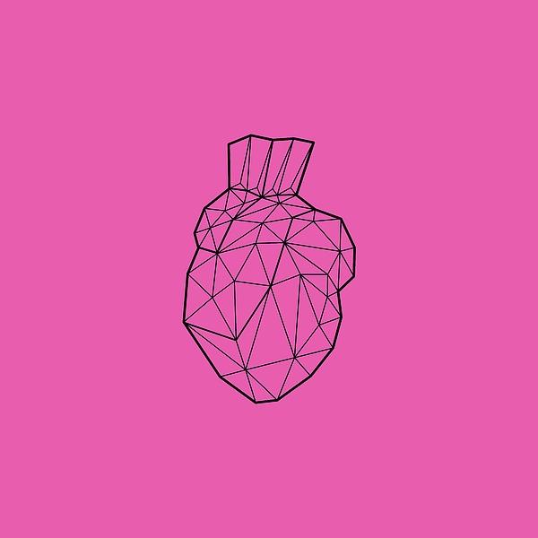 Happy Valentine Geometric Heart Design Digital Art
