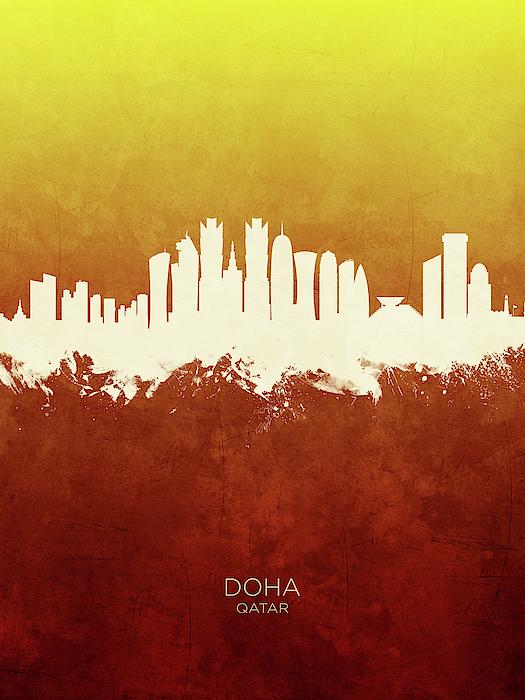 Doha Qatar Skyline Galaxy S8 Case