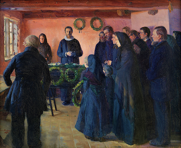 Anna Ancher - A Funeral - Digital Remastered Edition