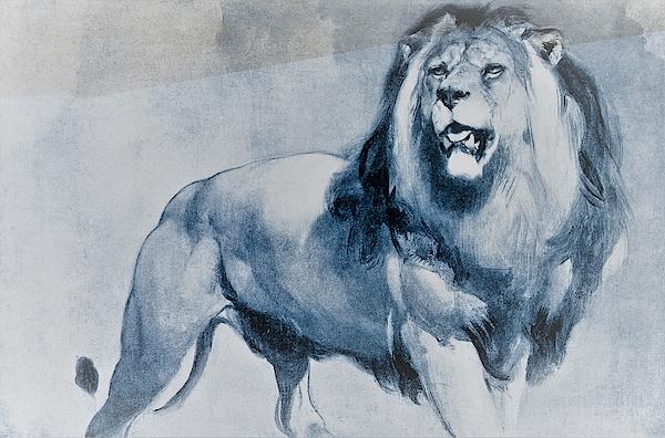 Edwin Henry Landseer - A standing lion - Digital Remastered Edition