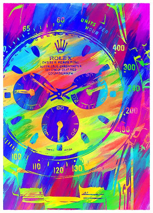 Abstract Rolex Digital Paint 2 Digital Art