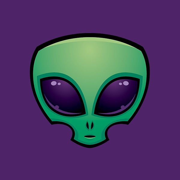 Alien Head Icon Digital Art