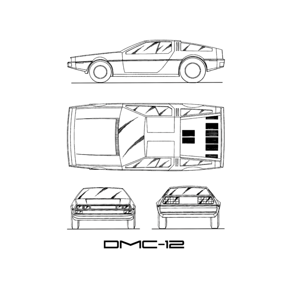The Delorean Dmc 12 Blueprint White Iphone X Case For Sale By Mark Rogan