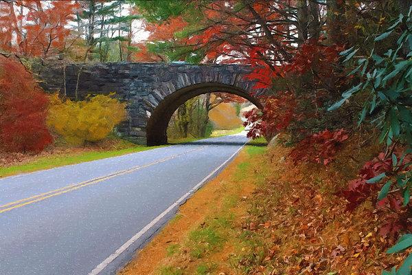 Sandi OReilly - Autumn Allegheny Bridge Painted