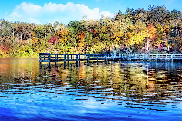 Debra and Dave Vanderlaan - Autumn Morning Lake