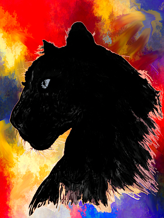 Abstract Angel Artist Stephen K - Black Panther Colors