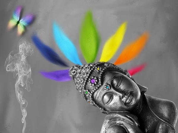 Buddha Chakra 01 Digital Art