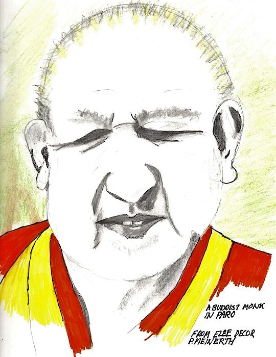 Buddist Monk Drawing