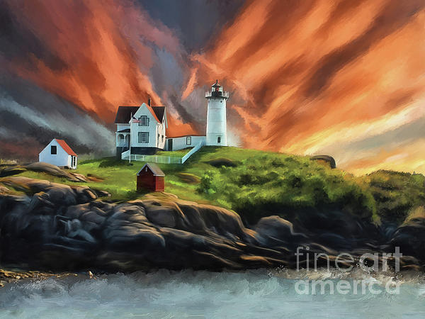 Lois Bryan - Cape Neddick Nubble Lighthouse