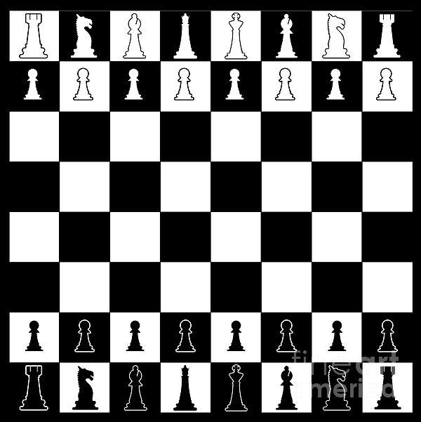 Chess Board Layout Coffee Mug