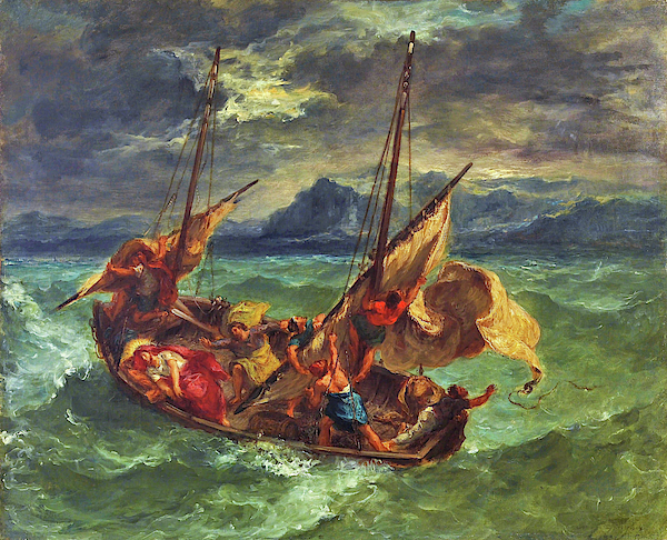 Eugene Delacroix - Christ on the Sea of Galilee - Digital Remastered Edition