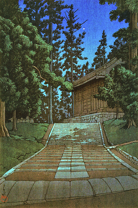 Kawase Hasui - Collection of Scenic Views of Japan, Eastern Japan Edition, Konjikido at Chusonji Temple, Hiraizumi