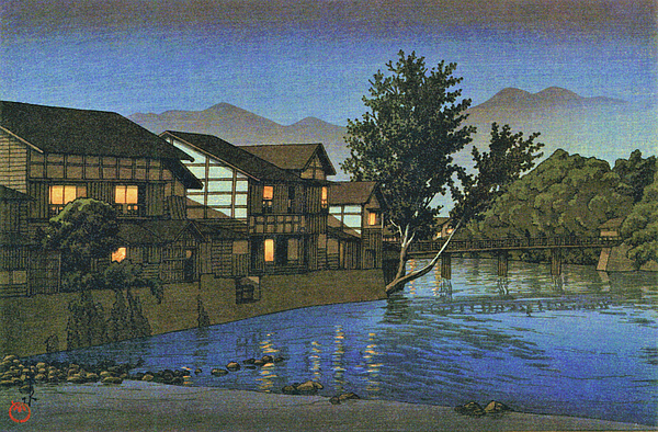 Kawase Hasui - Collection of Scenic Views of Japan, Eastern Japan Edition, Ohwani Spa - Digital Remastered Edition