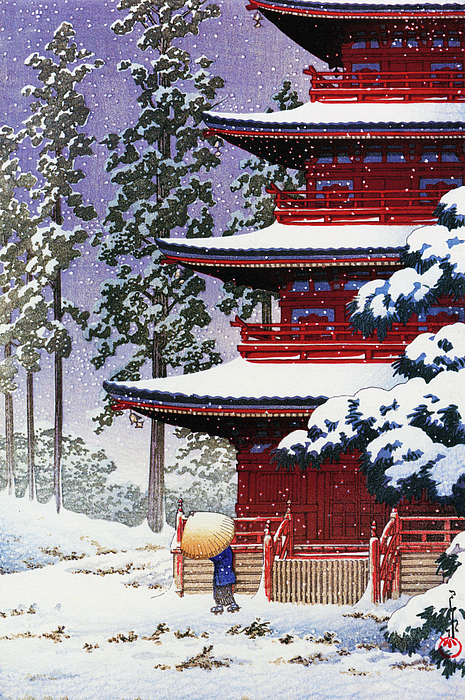 Kawase Hasui - Collection Of Scenic Views Of Japan, Eastern Japan Edition, Saisho temple, Hirosaki