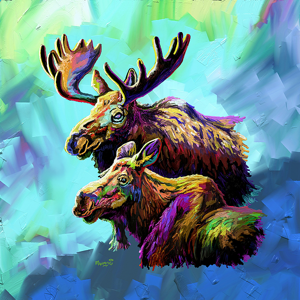 Colorful Moose Painting