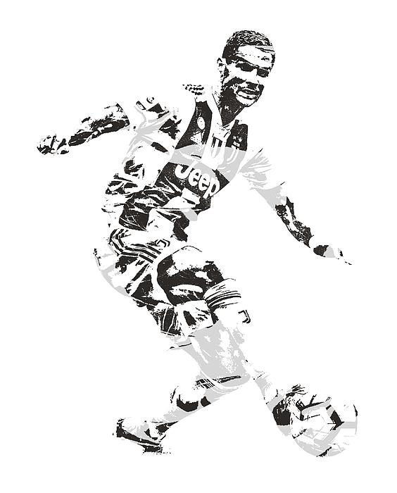 fd453dba2f65 Cristiano Ronaldo Juventus Pixel Art 1 Greeting Card for Sale by Joe ...