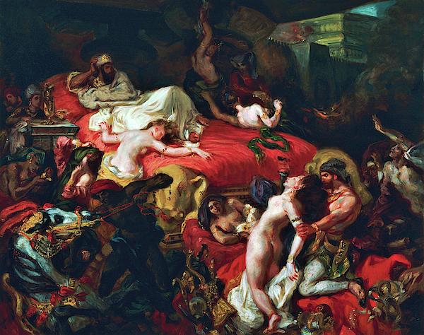Eugene Delacroix - Death of Sardanapalus - Digital Remastered Edition