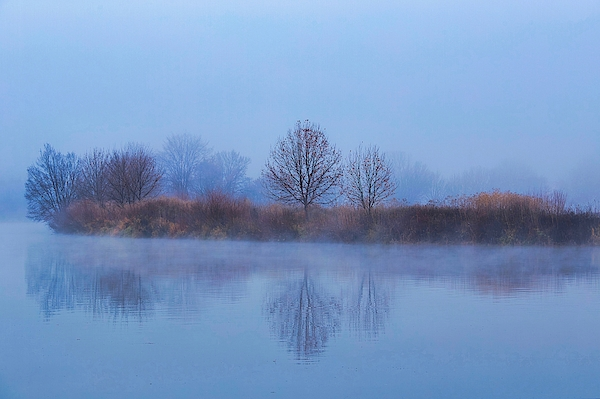 Lynn Hopwood - Dense fog on the river