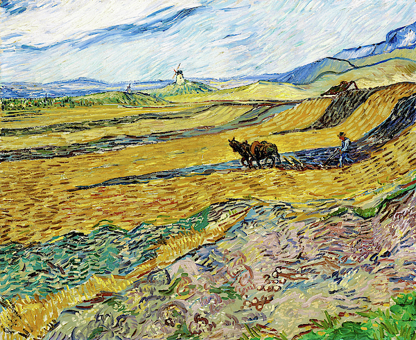 Vincent van Gogh - Enclosed Field with Ploughman - Digital Remastered Edition