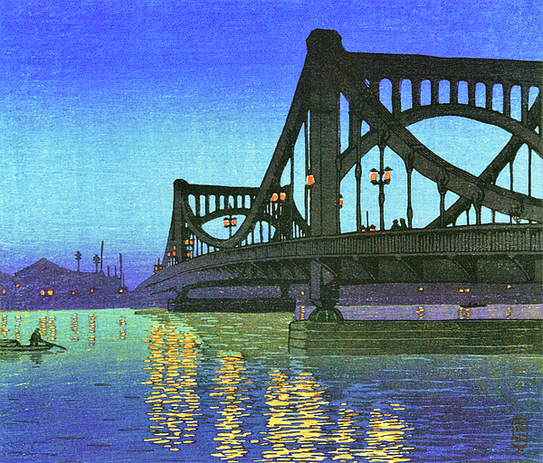 Kawase Hasui - Evening Kiyosu Bridge - Digital Remastered Edition