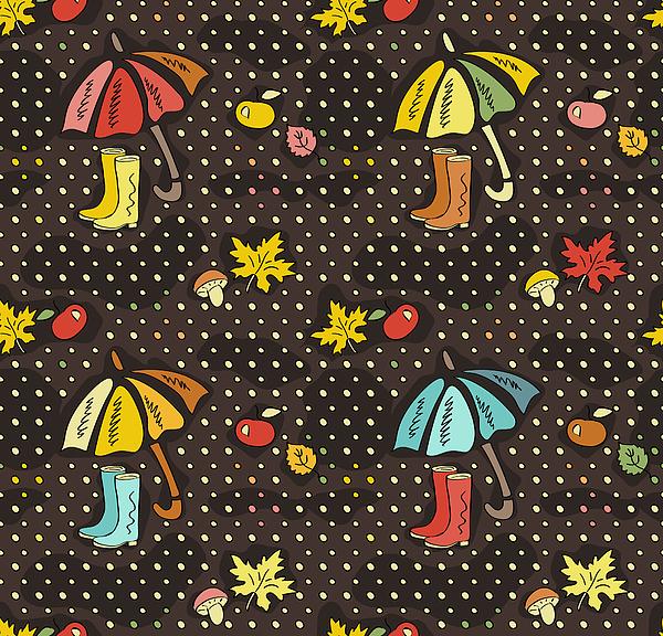 Fall Doodle Wallpaper Autumn Seamless Iphone Xs Max Case