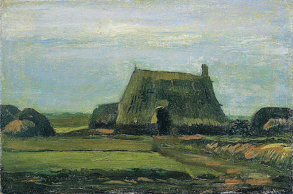 Vincent van Gogh - Farm with stacks of peat - Digital Remastered Edition