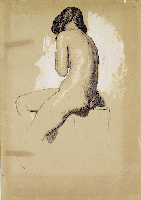 William Holman Hunt - Female Nude, Study from behind - Digital Remastered Edition