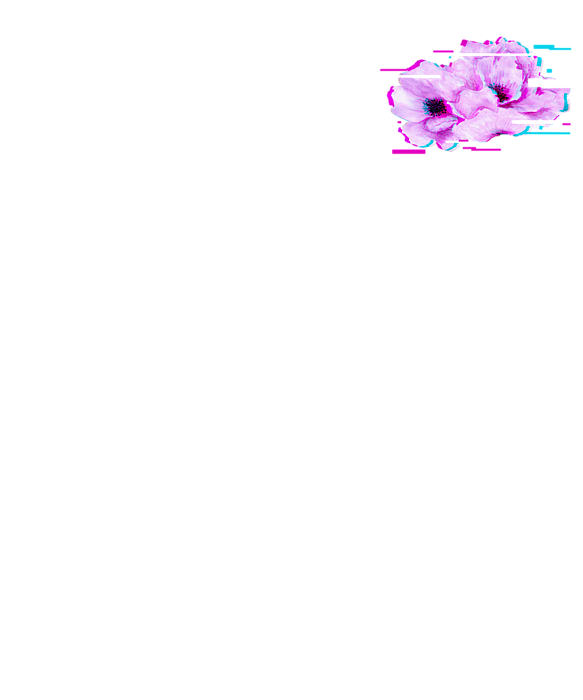 Flowers Glitch Effect Design Aesthetic Style Vaporwave Flower