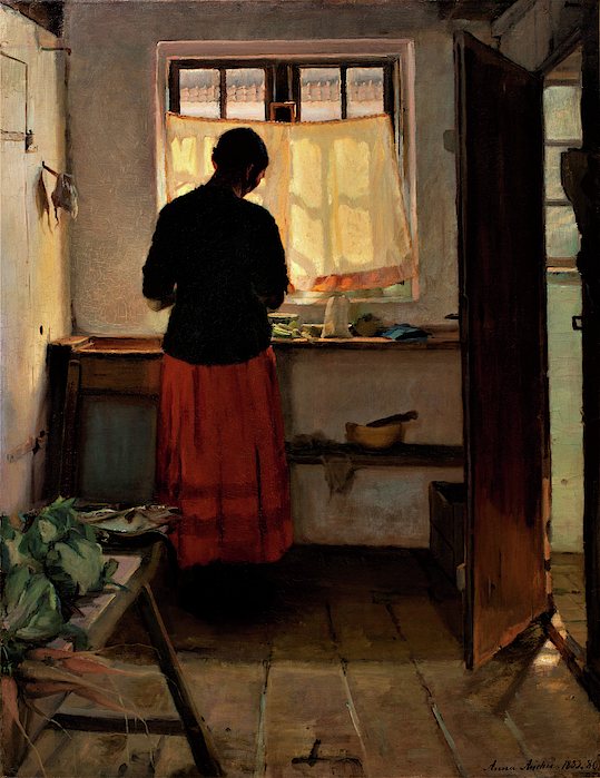Anna Ancher - Girl in the Kitchen - Digital Remastered Edition