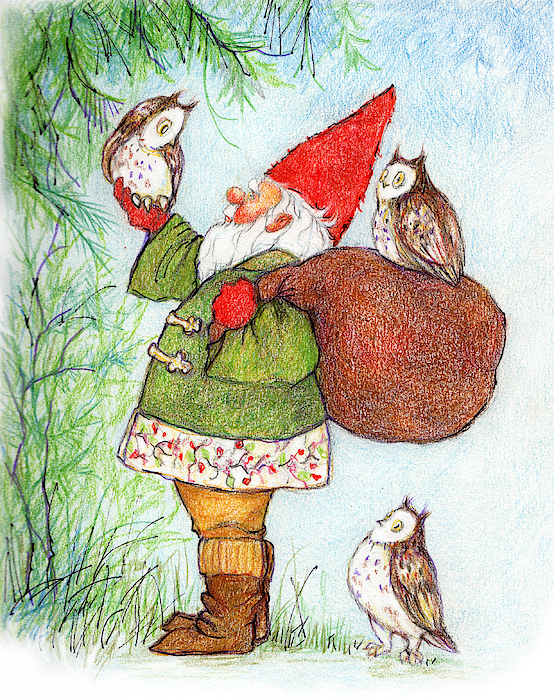 Peggy Wilson - Gnome with Owls
