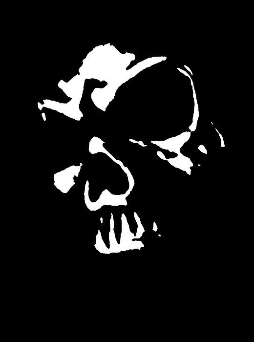 Goth Dark Skull Graphic Digital Art