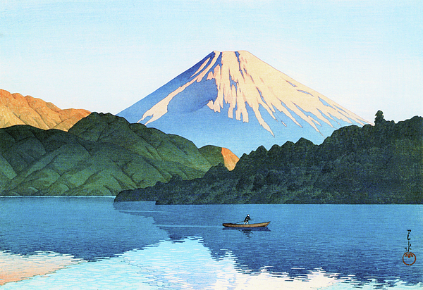 Kawase Hasui - Hakone, Ashino Lake - Digital Remastered Edition