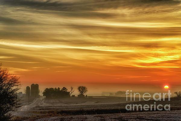 Thomas R Fletcher - Indiana Sunrise with Mist