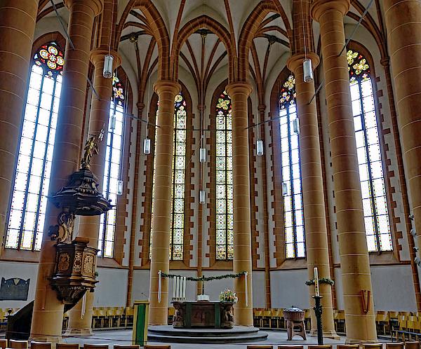 Richard Rosenshein - Interiior View Of The Church Of The Holy Spirit In Heidelberg Germany