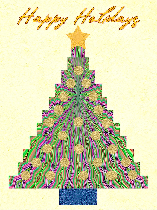 Marian Bell - Kaleidoscopic Christmas Tree Decorated
