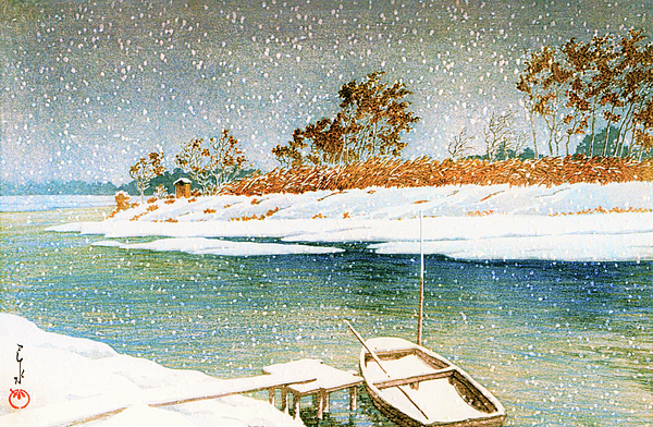 Kawase Hasui - Koshigaya in Snow - Digital Remastered Edition