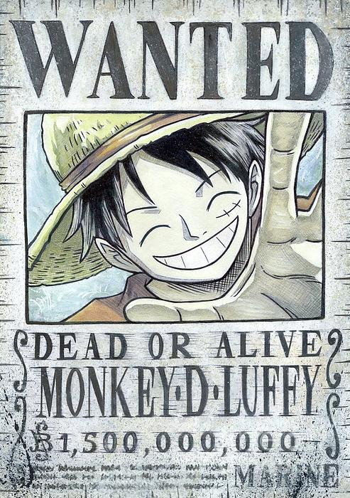 Monkey D Luffy Wanted Poster Handmade Print Fleece Blanket For Sale By Lissy Gale