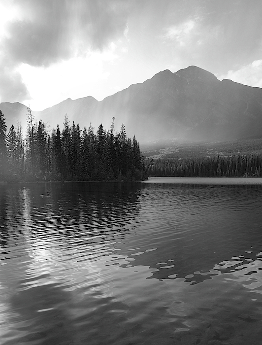 Dan Sproul - Morning Lake Reflections Black And White