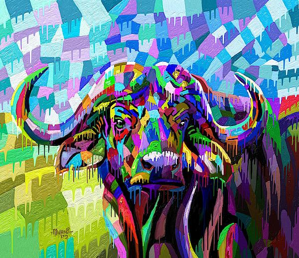 Painted Buffalo Painting