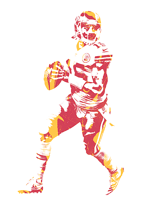 Patrick Mahomes Kansas City Chiefs Pixel Art 10 Greeting Card