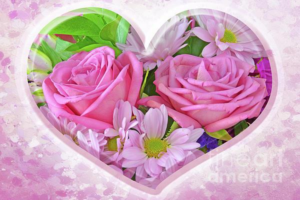 Regina Geoghan - Pink Heart and Flowers