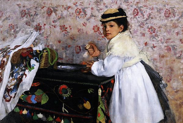 Edgar Degas - Portrait of Mlle, Hortense Valpincon - Digital Remastered Edition