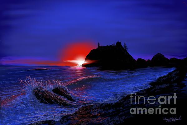 Gary F Richards - Ruby Beach Twilight Surf