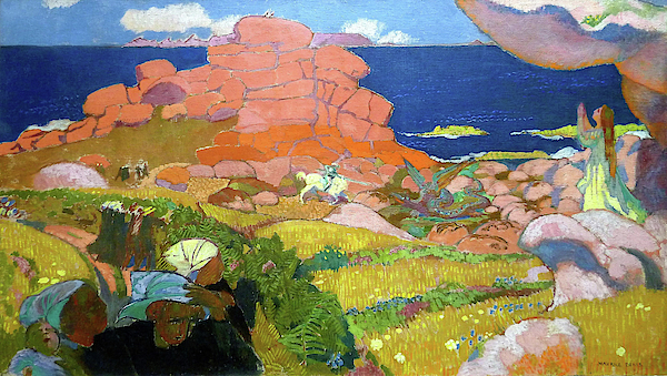 Maurice Denis - Saint George with red rocks - Digital Remastered Edition