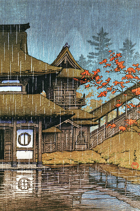 Kawase Hasui - Selection of Views of the Japan, Mountain Temple, Sendai - Digital Remastered Edition